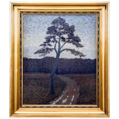 "Painting ""Tree by the road"", Scandinavia, 1930s"