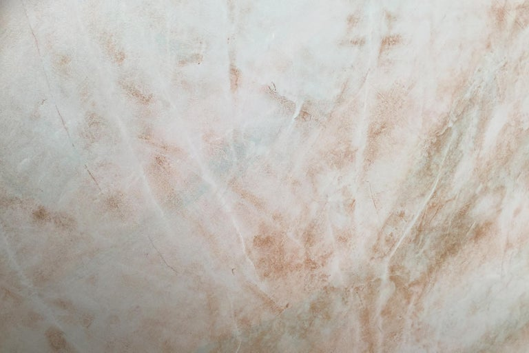 This painting revels bronze color from the acrylic and white lines from the Venetian plaster foundation layer. Measures: 36