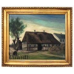 "Painting ""Village Cottage"""