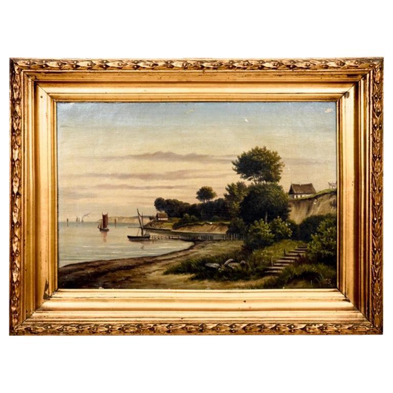 "Painting ""Walk along the coast"", Denmark"