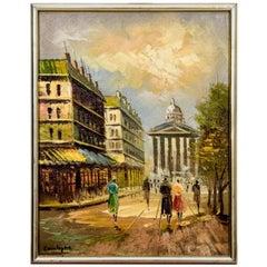 """Painting """"Walk around Paris"""", France, circa 1940"""