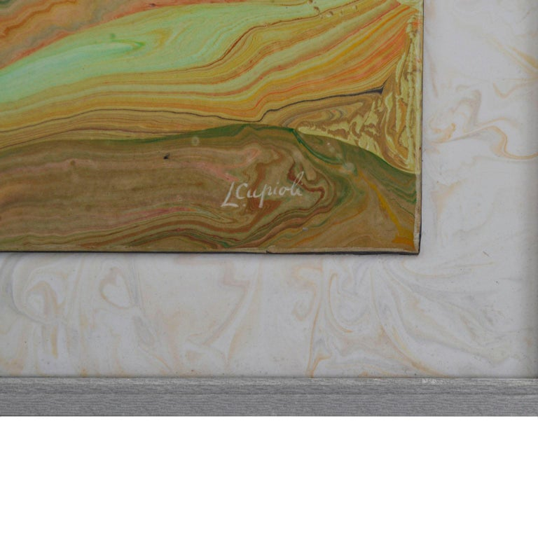 Title : Spring Impression The subject depicted in this painting is an oriental garden where there is a distribution of colors typical of the Japanese order. This wall panel is manufactured with pigmented cold ceramic , called scagliola art technique