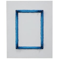 Painting White and Prussian Blue Rectangle by Chris & Jody Vingoe