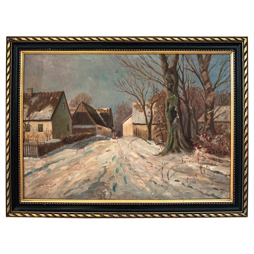 "Painting ""Winter village"""