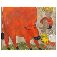 Painting with Red Cow, Sig. Quang, 2010