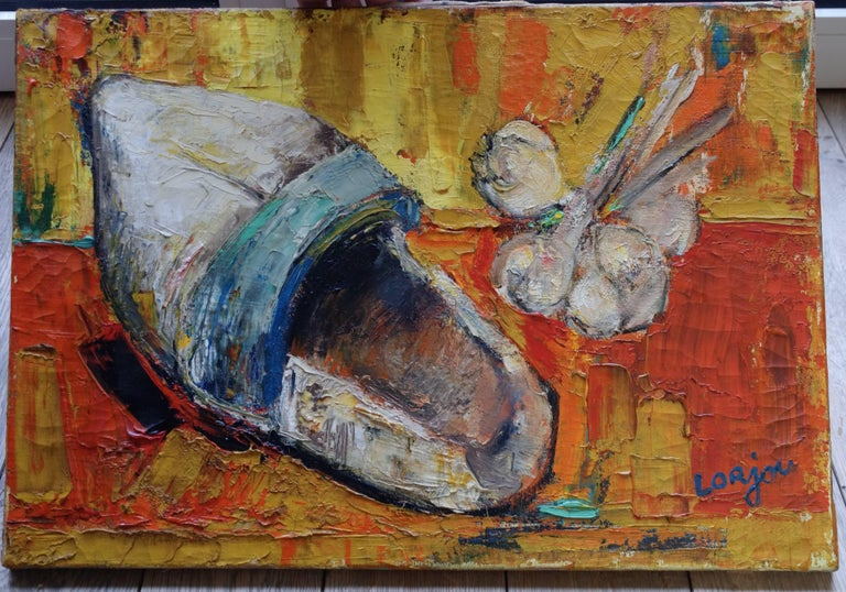French Painting by Bernard Lorjou, Le Sabot 'Clog', 1955-1957, Oil on Canvas For Sale