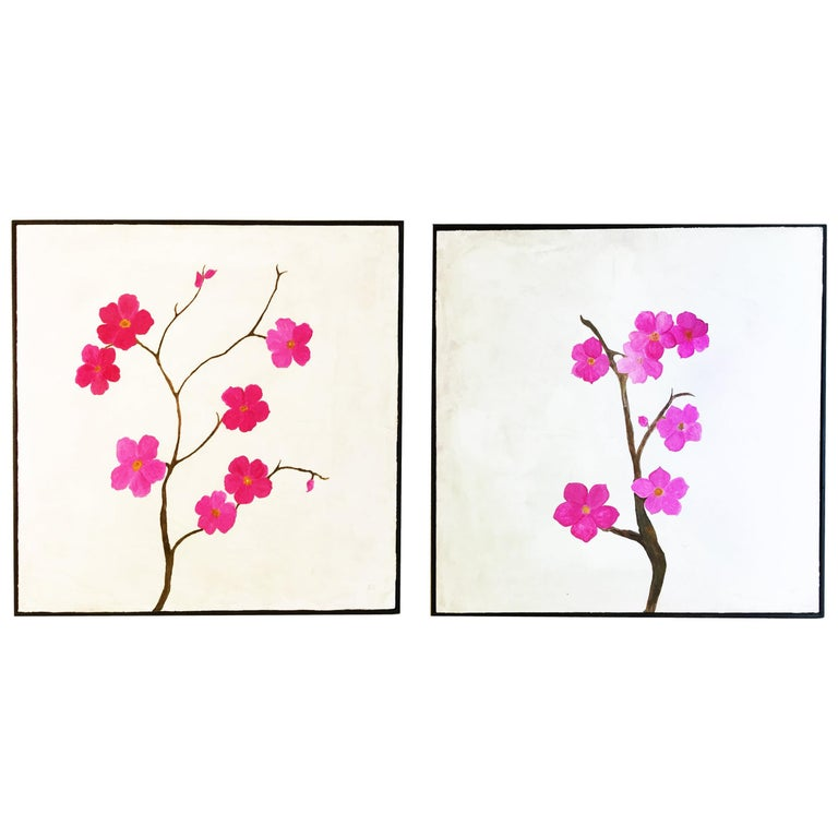 "Paintings ""Blossoms I & II"" For Sale"