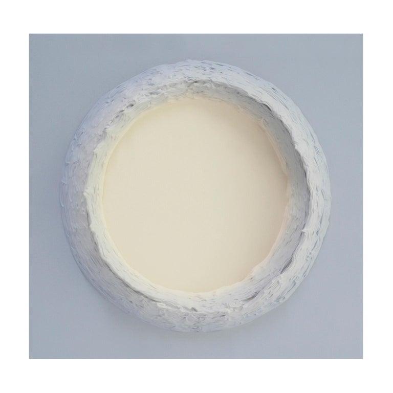 Dutch Paintings Light Grey and Buff Titanium Circles by Chris & Jody Vingoe