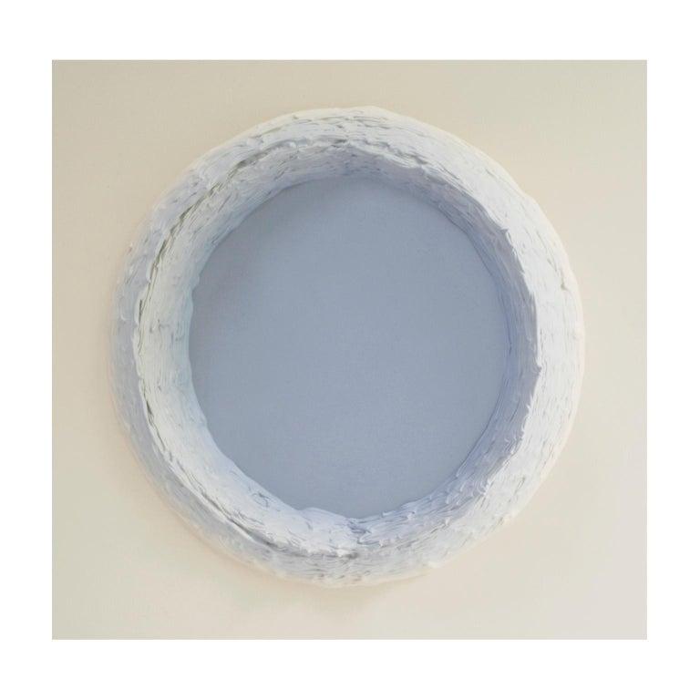 Hand-Painted Paintings Light Grey and Buff Titanium Circles by Chris & Jody Vingoe