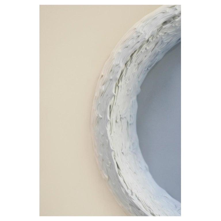 Contemporary Paintings Light Grey and Buff Titanium Circles by Chris & Jody Vingoe
