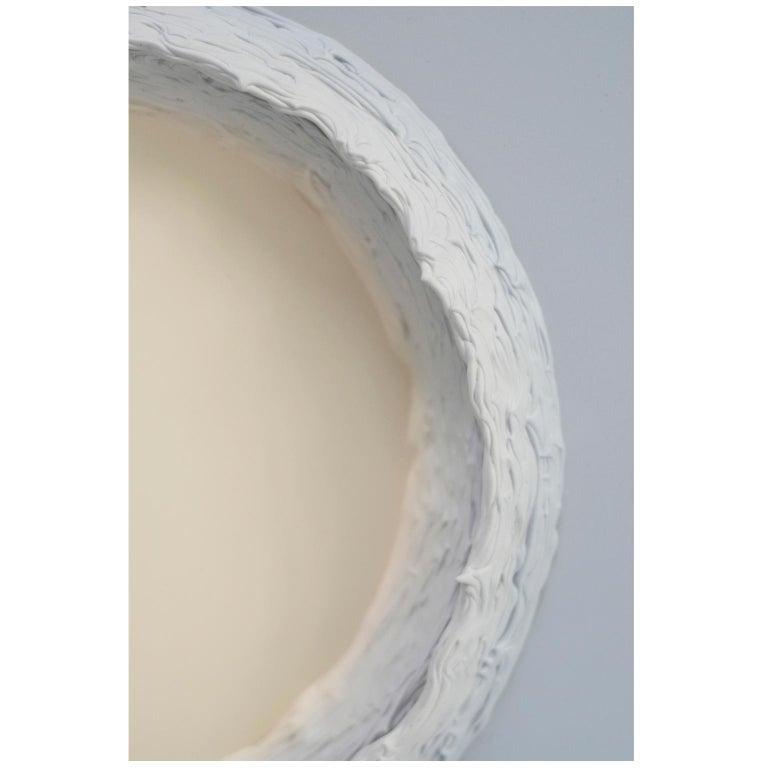 Acrylic Paintings Light Grey and Buff Titanium Circles by Chris & Jody Vingoe