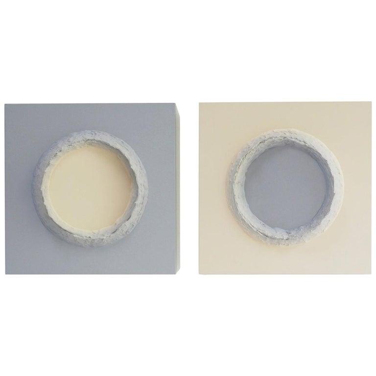 Paintings Light Grey and Buff Titanium Circles by Chris & Jody Vingoe
