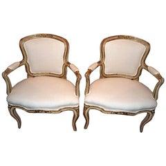 Pair 18th. c. Italian Armchairs
