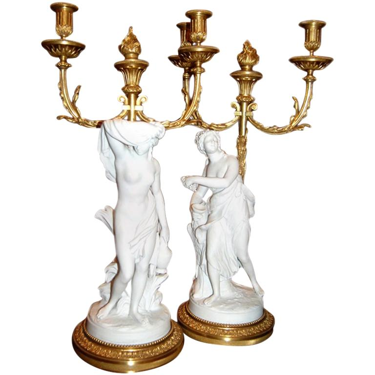 Pair of 18th Century Neoclassical Candlesticks For Sale