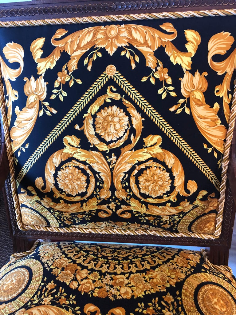 Pair of 19th-20th Century Louis XVI Style Carved Armchairs  For Sale 1