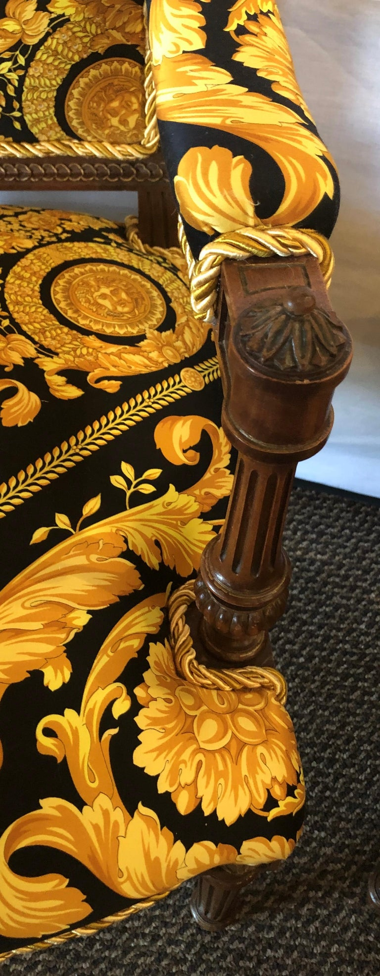 Pair of 19th-20th Century Louis XVI Style Carved Armchairs  For Sale 5