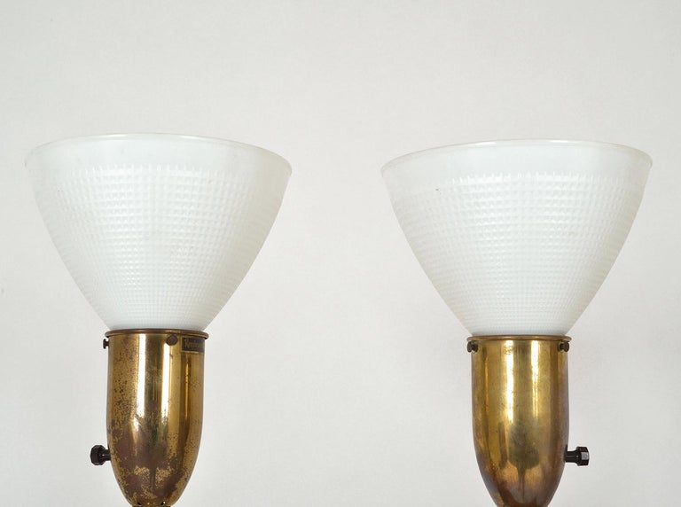Pair of American Mid-Century Modern Obelisk Table Lamps by Rembrandt Lighting For Sale 10