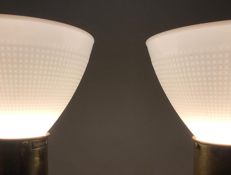 Pair of American Mid-Century Modern Obelisk Table Lamps by Rembrandt Lighting For Sale 11