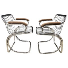 Pair of 1970s Gastone Rinaldi Cantilever Chairs