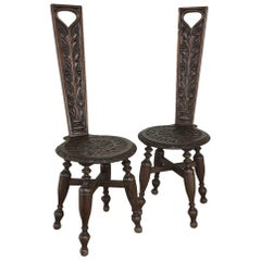 Pair of 19th Century Black Forest Chairs