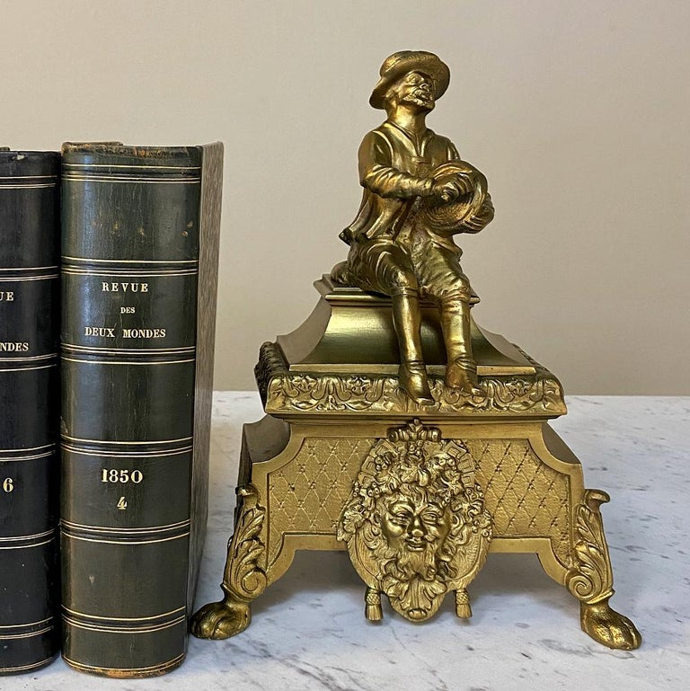 Pair of 19th Century Bronze Andiron Bookends For Sale 3