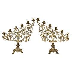 Pair of 19th Century Bronze Candelabra
