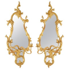 Pair of 19th Century Chippendale Influenced Wall Mirrors
