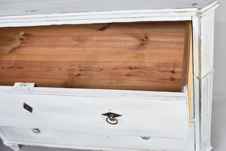Pair of 19th Century English Pine Chests with New Paint For Sale 11
