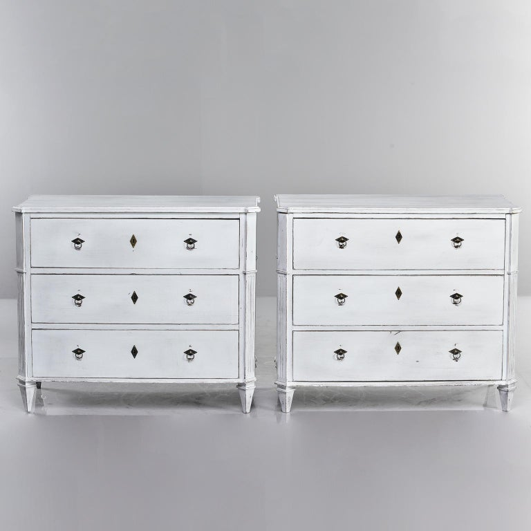 Pair of 19th Century English Pine Chests with New Paint For Sale 12