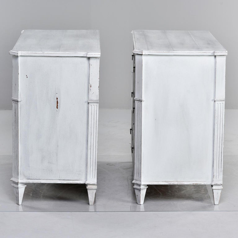 Pair of 19th Century English Pine Chests with New Paint For Sale 1