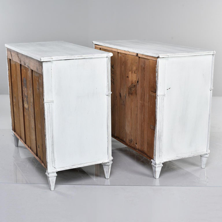 Pair of 19th Century English Pine Chests with New Paint For Sale 2
