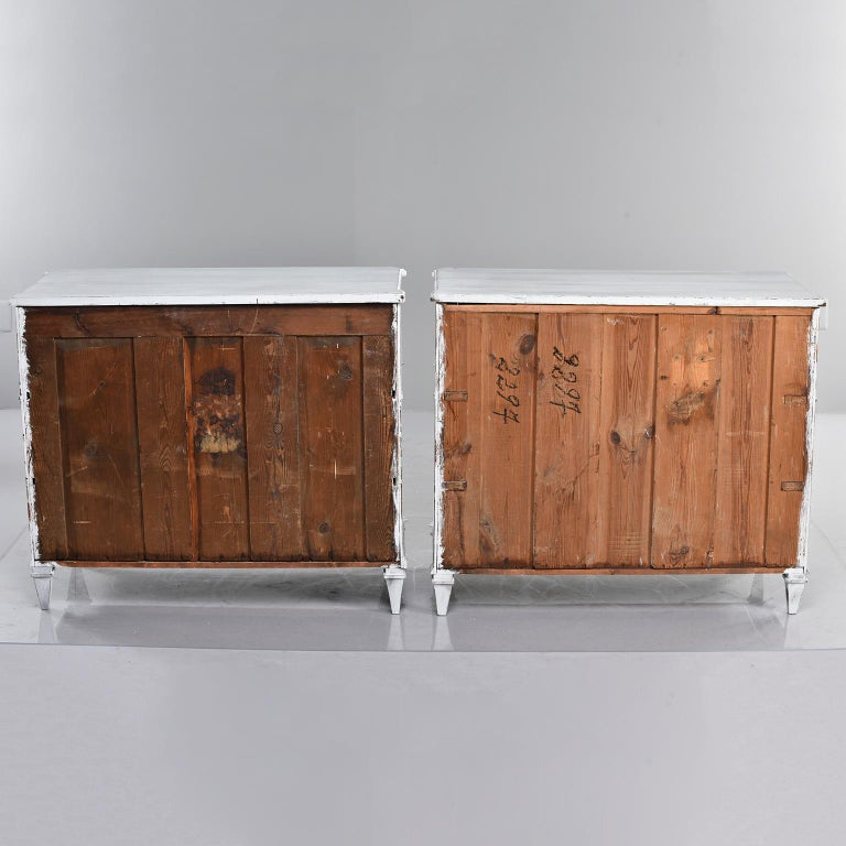 Pair of 19th Century English Pine Chests with New Paint For Sale 3