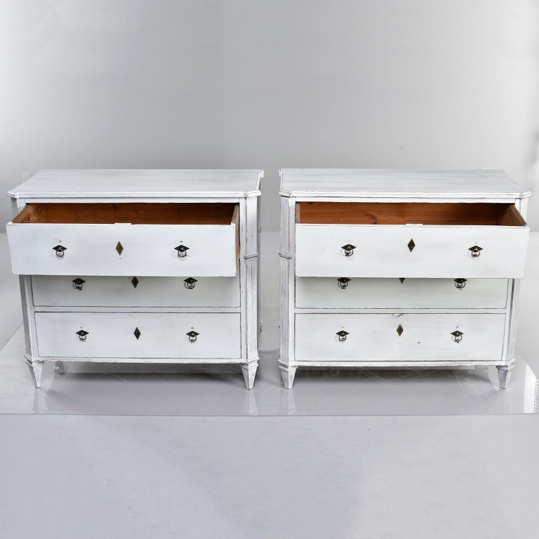 Pair of 19th Century English Pine Chests with New Paint For Sale 5