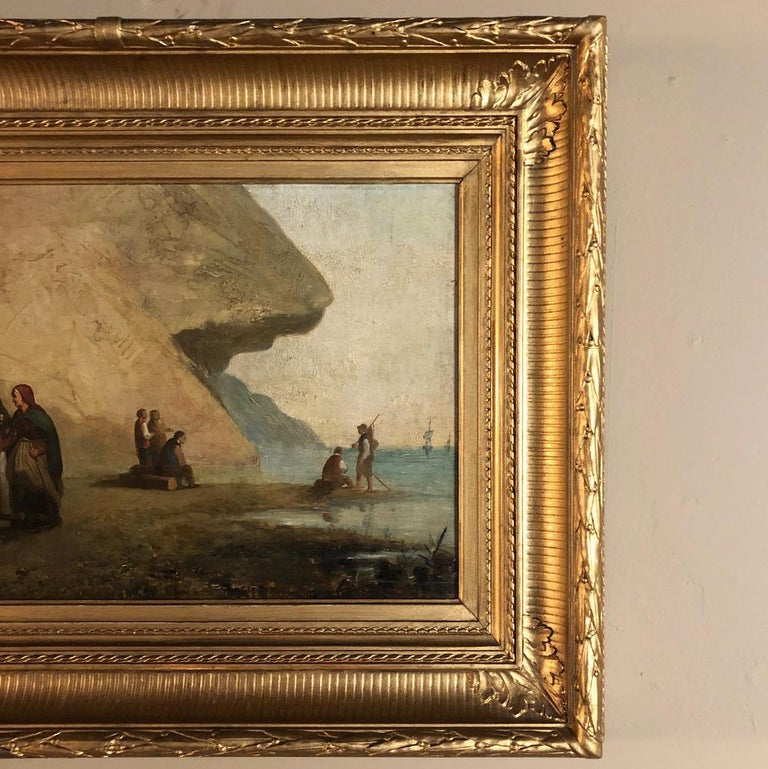 Pair of 19th Century Framed Oil Paintings on Board, French School For Sale 4
