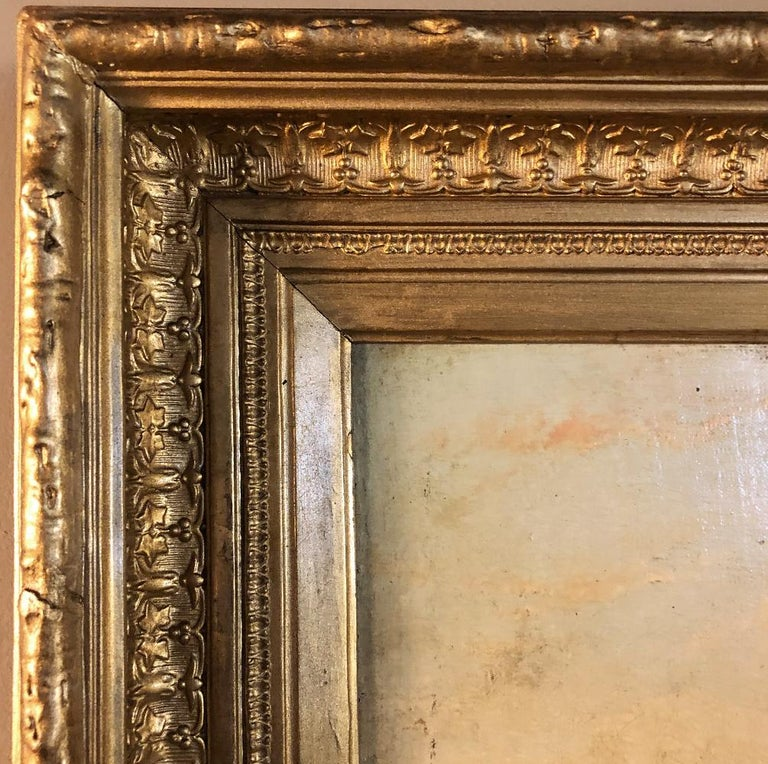 Pair of 19th Century Framed Oil Paintings on Board, French School For Sale 5