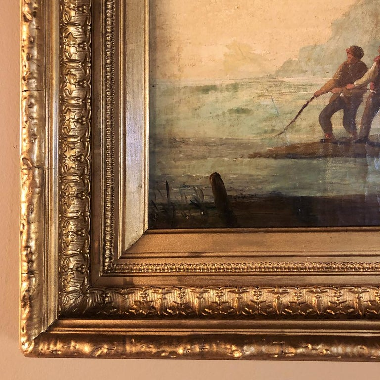 Pair of 19th Century Framed Oil Paintings on Board, French School For Sale 6