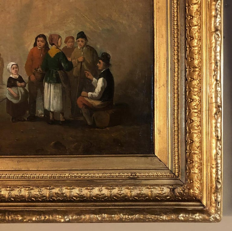Pair of 19th Century Framed Oil Paintings on Board, French School For Sale 8