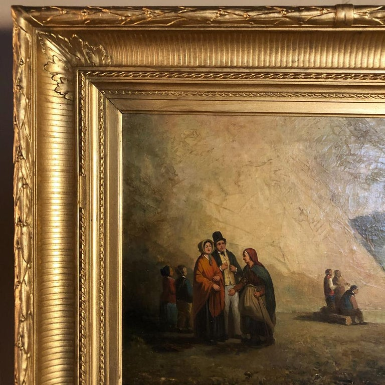 Pair of 19th Century Framed Oil Paintings on Board, French School For Sale 9