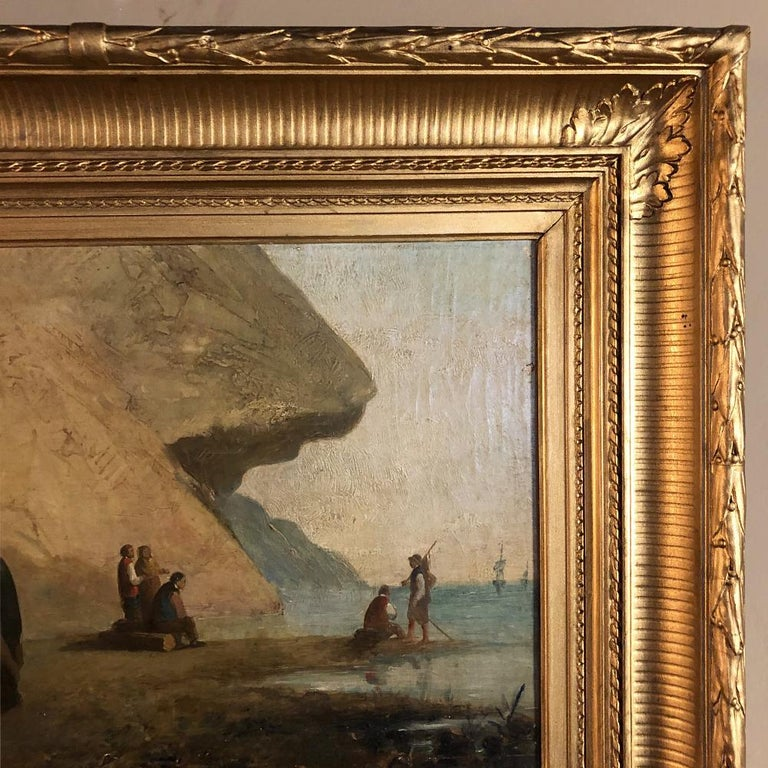 Pair of 19th Century Framed Oil Paintings on Board, French School For Sale 10