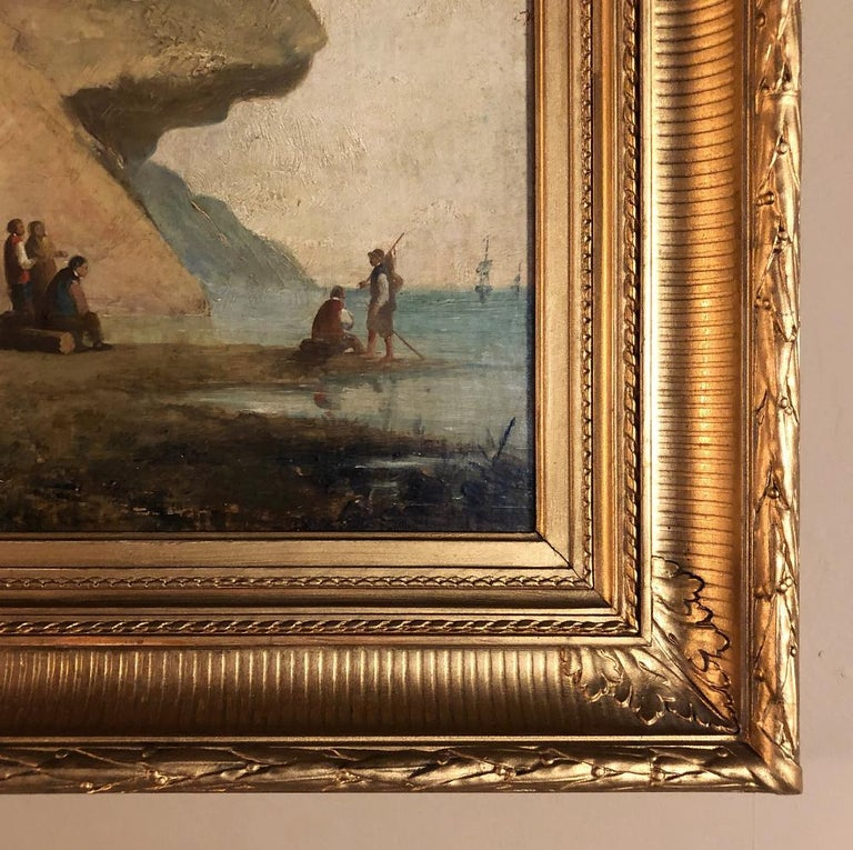 Pair of 19th Century Framed Oil Paintings on Board, French School For Sale 11