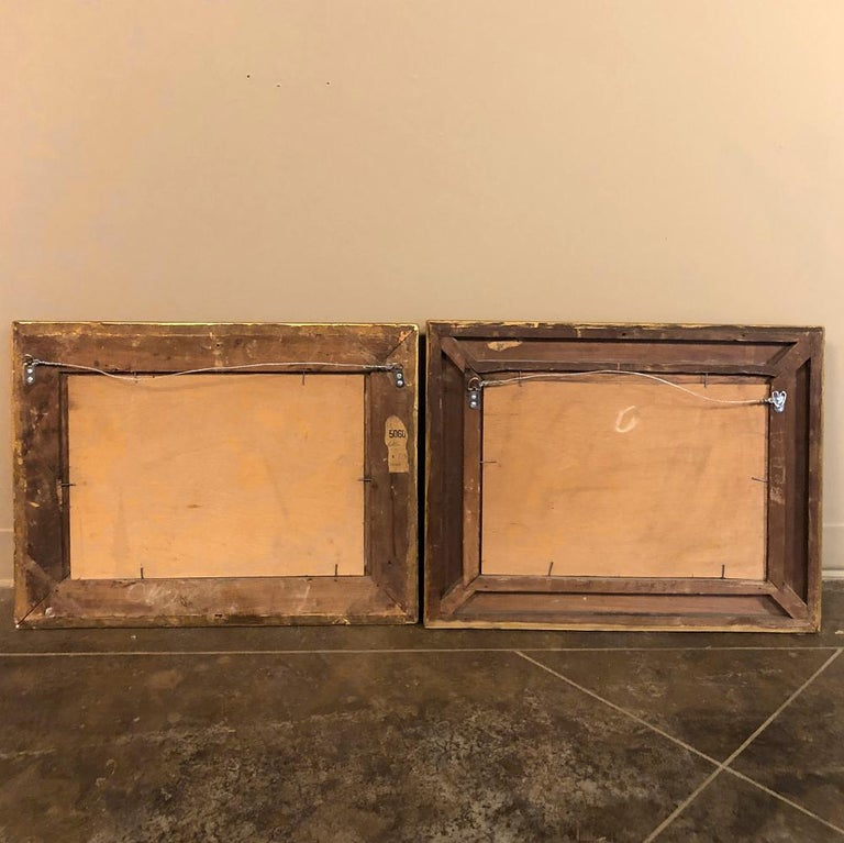 Pair of 19th Century Framed Oil Paintings on Board, French School For Sale 12