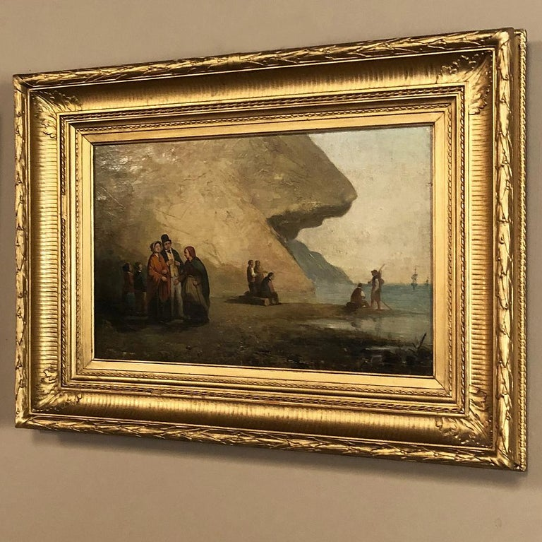 Pair of 19th Century Framed Oil Paintings on Board, French School In Good Condition For Sale In Dallas, TX