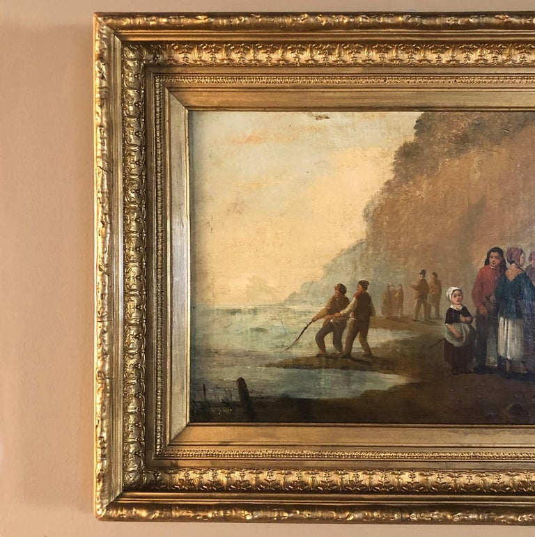 Pair of 19th Century Framed Oil Paintings on Board, French School For Sale 1