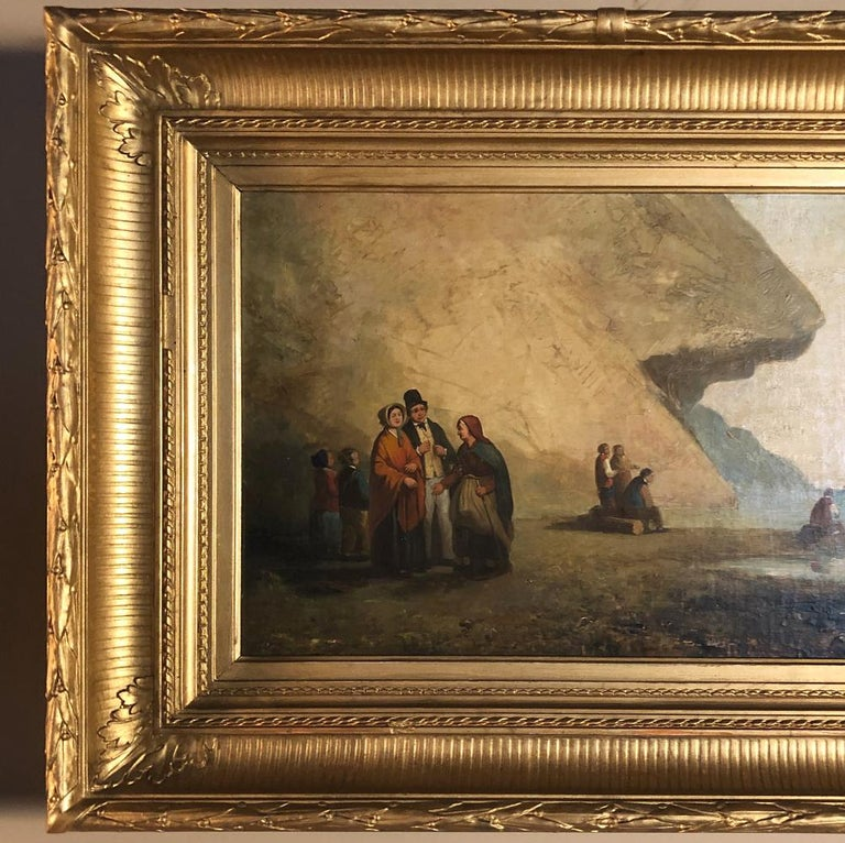 Pair of 19th Century Framed Oil Paintings on Board, French School For Sale 3