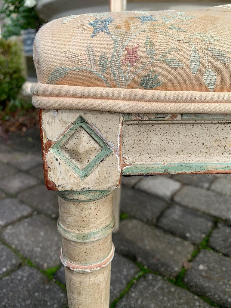 Pair of 19th Century French Directoire Style Painted Side Chairs For Sale 8
