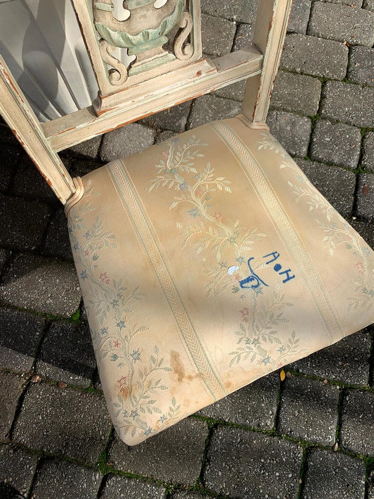 Pair of 19th Century French Directoire Style Painted Side Chairs For Sale 10