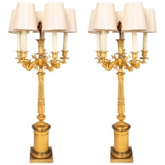 Pair 19th Century French Empire Style Lamps