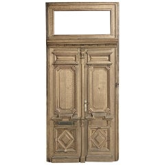 Pair of 19th Century French Exterior Doors in Frame