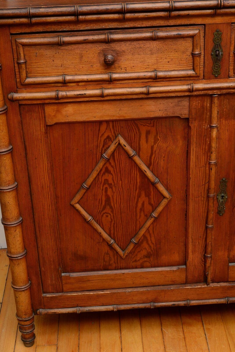 Pair of 19th Century French Faux Bamboo Large Cabinets For ...