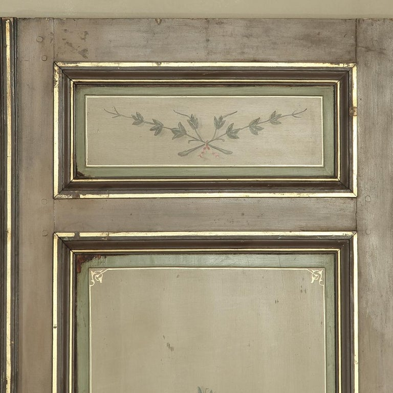 Pair of 19th Century French Hand Painted Paneled Interior Doors For Sale 7